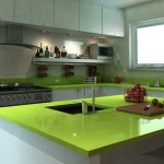 Green quartz top for modern look