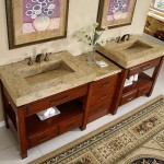 Granite Vanity with unique drain